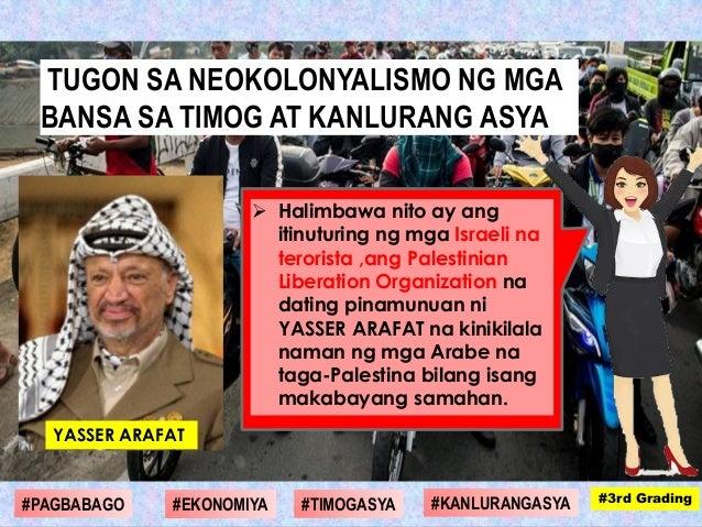  Halimbawa nito ay ang itinuturing ng mga Israeli na terorista ,ang Palestinian Liberation Organization na dating pinamun...