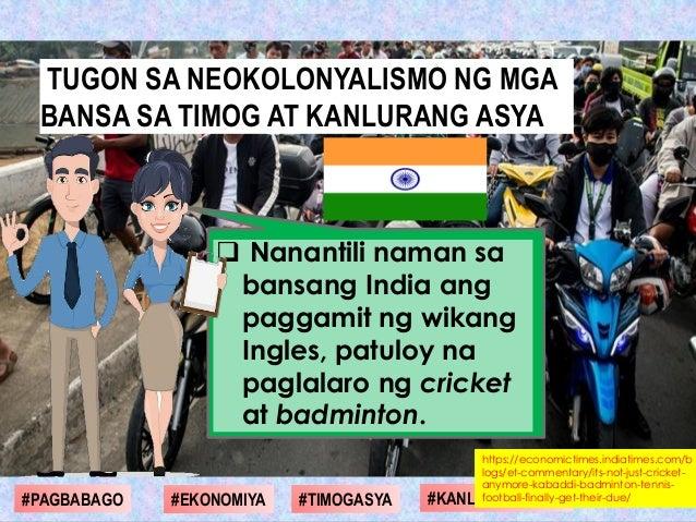  Nanantili naman sa bansang India ang paggamit ng wikang Ingles, patuloy na paglalaro ng cricket at badminton. #1st Gradi...