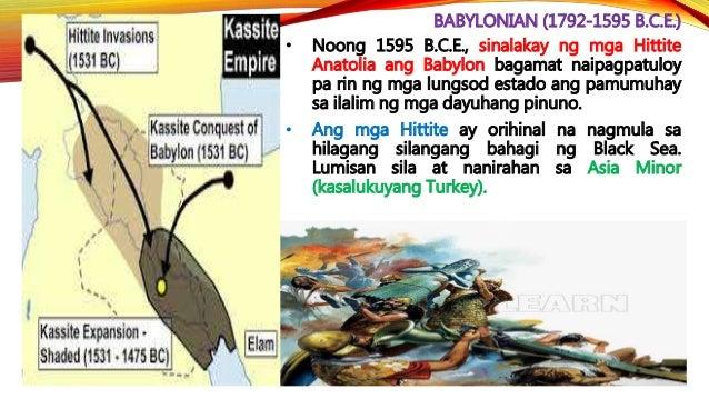 ASSYRIAN (1813-605 B.C.E.) • Pinabagsak ng mga Chaldean ang Assyria sa isang pag-aalsa.