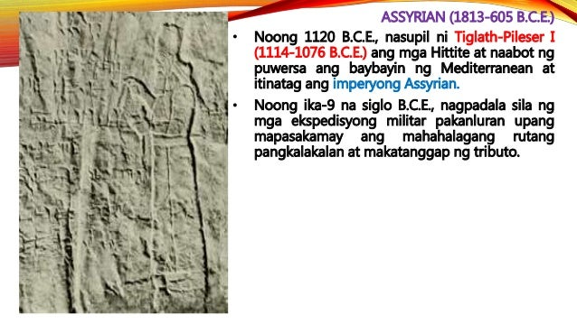 CHALDEAN (612-539 B.C.E.) • Si Nabopolassar (612-605 B.C.E.) – ang nagtatag ng bagong imperyo ng Babylonia matapos panguna...