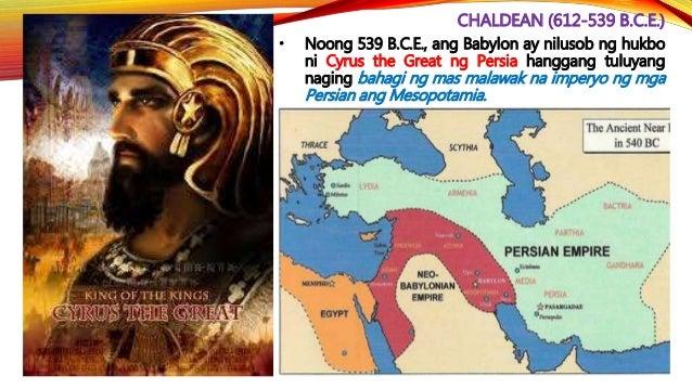 PERSIAN (539-330 B.C.E.) • Sa ilalim ni Cyrus The Great (559-530 B.C.E.) – nagsimulang manakop ang mga Persian. Napasailal...