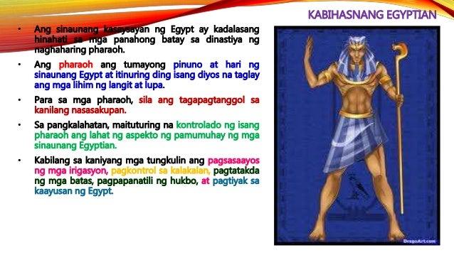 KABIHASNANG EGYPTIAN • Ang kaguluhang politikal ay nagtapos nang manungkulan si Mentuhotep I. Sa mga sumunod na naghari, n...