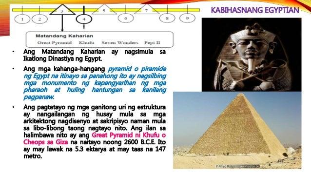 KABIHASNANG EGYPTIAN • Anong pangkat ng tao ang nasa larawan? ________________________________ • Ano ang bahaging kanilang...