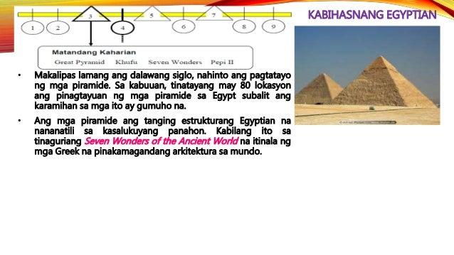 KABIHASNANG EGYPTIAN • Ang Bagong Kaharian ay itinuturing na pinakadakilang panahon ng kabihasnang Egyptian. Ito ay pinasi...