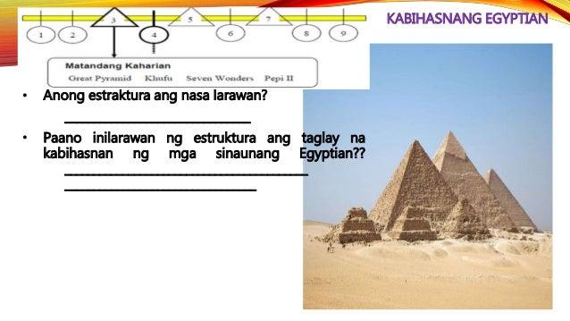 KABIHASNANG EGYPTIAN • Siya ay pinalitan ni Tutankhamen (1334-1325 B.C.E.) na noon ay siyam na taong gulang pa lamang nang...