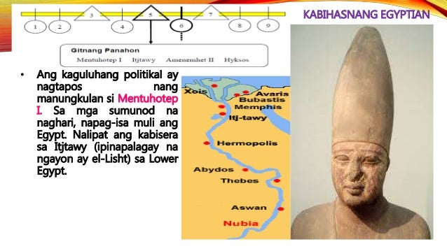 KABIHASNANG EGYPTIAN • Ang Ika-19 na Dinastiya ay pinasimulan ni Rameses I (1293-1291 B.C.E.).
