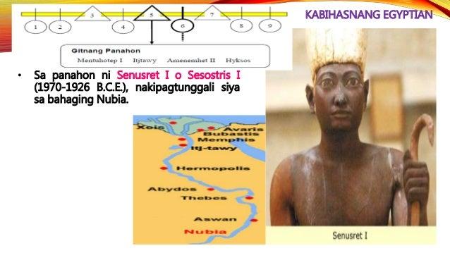 KABIHASNANG EGYPTIAN • Siya ay sinundan nina Seti I (1291-1279 B.C.E.) at Rameses II (1279-1213 B.C.E.).