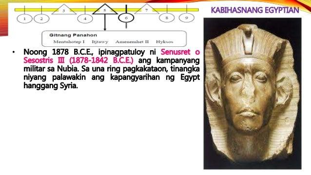 KABIHASNANG EGYPTIAN • Si Rameses II ay isa sa mahusay na pinuno ng mga panahong ito. Sa loob ng 20 taon, kinalaban niya a...