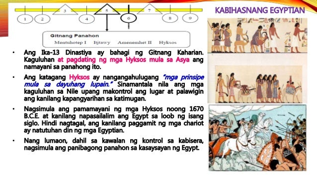 KABIHASNANG EGYPTIAN • Nagsimula ang Ika-26 na Dinastiya sa ilalim ni Psammetichus (664-610 B.C.E.). Nagawa niyang pagbukl...