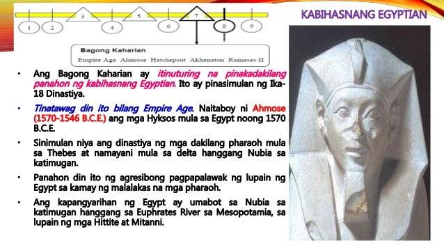 KABIHASNANG EGYPTIAN • Noong 305 B.C.E., itinalaga ni Ptolemy ang kaniyang sarili bilang hari ng Egypt at pinasimulan ang ...