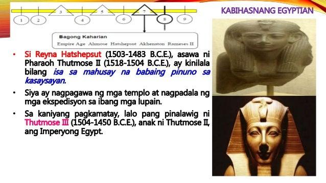 KABIHASNANG EGYPTIAN • Sino ang nasa larawan? ________________________________ • Paano nagwakas ang kabihasnang Egyptian? ...