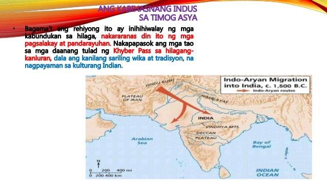 HEOGRAPIYA NG LAMBAK NG INDUS • Nagsimula ang kabihasnan sa India sa paligid ng Indus River. Ang tuktok ng kabundukang Him...