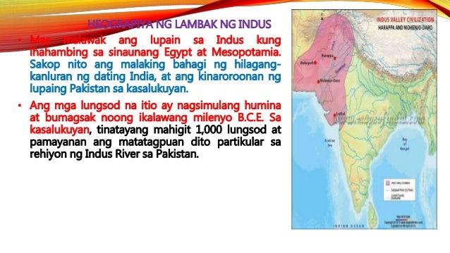 HEOGRAPIYA NG LAMBAK NG INDUS • Sa kasalukuyan,isa lamang ang India sa mga bansa sa Timog Asya. Subalit kung susuriin, ang...