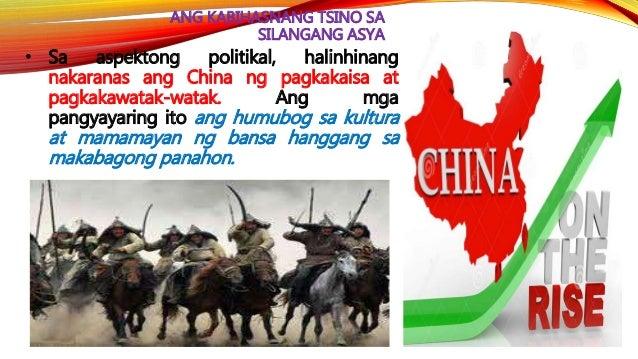 HEOGRAPIYA NG HUANG HO • Naniniwala ang mga Tsino na sila lamang ang mga sibilisadong tao sa gitna ng mga tribo na tinawag...