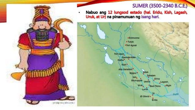 SUMER (3500-2340 B.C.E.) • Nag-alaga sila ng mga baka, tupa, kambing, at baboy.