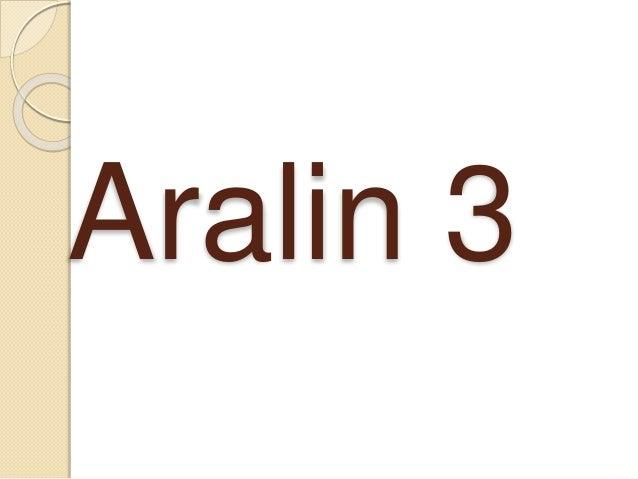 Aralin 3