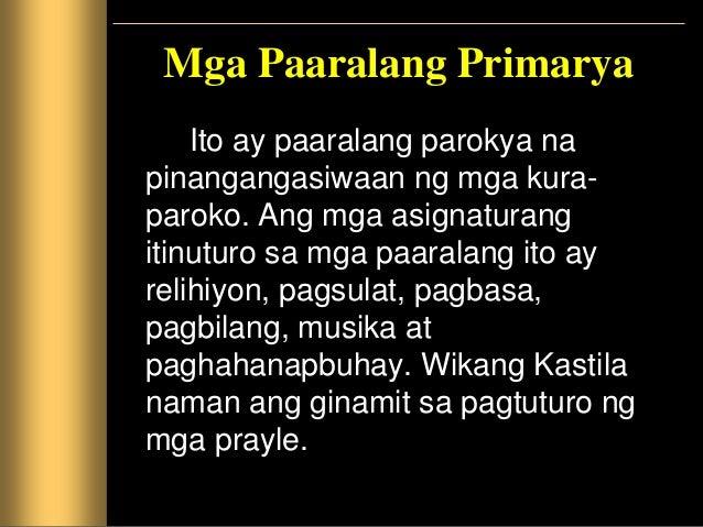 Mga Paaralang Sekundaryang at Pangkolehiyo Itinatag ang mga paaralang ito upang maihanda ang mga mag-aaral sa pagpasok sa ...