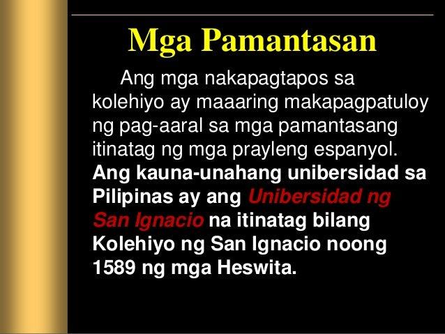 Itinatag naman ng mga Dominikano ang Unibersidad ng Santo Tomas noong 1655. Ito ay ang dating Kolehiyo ng Santo Rosario na...