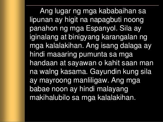 Ang mga dalagita ay iniiwan lamang sa bahay oo kaya sa paaralan. Ang mga paaralan na tinatawag na kolehiyo ay pinangasiwaa...