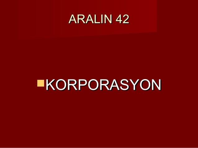ARALIN 42KORPORASYON