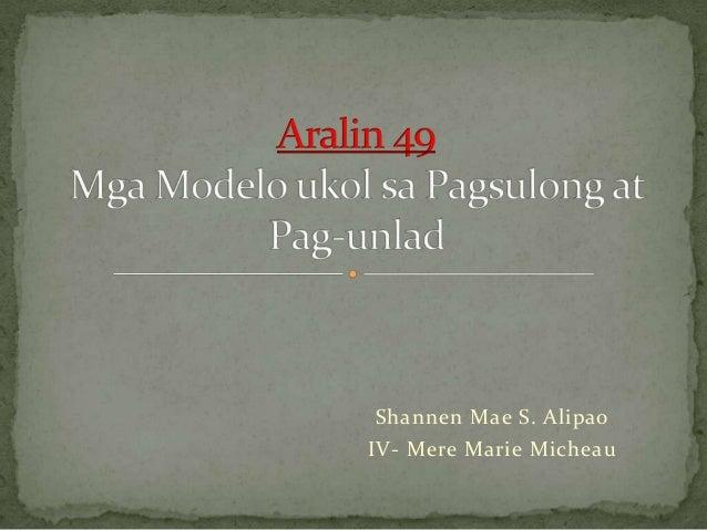 Shannen Mae S. AlipaoIV- Mere Marie Micheau