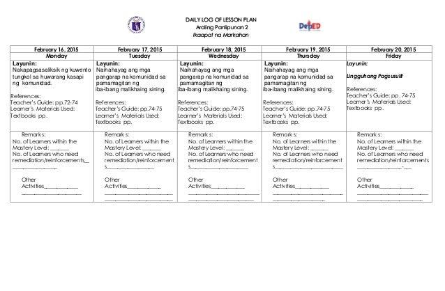 Grade 7 K-12 Lesson Plans