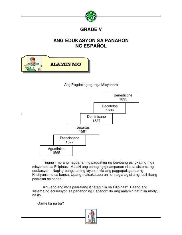 1 GRADE V ANG EDUKASYON SA PANAHON NG ESPAÑOL Ang Pagdating ng mga Misyonero i Tingnan mo ang hagdanan ng pagdating ng iba...