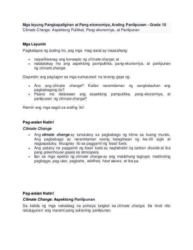 Araling panlipunan grade 10 q1
