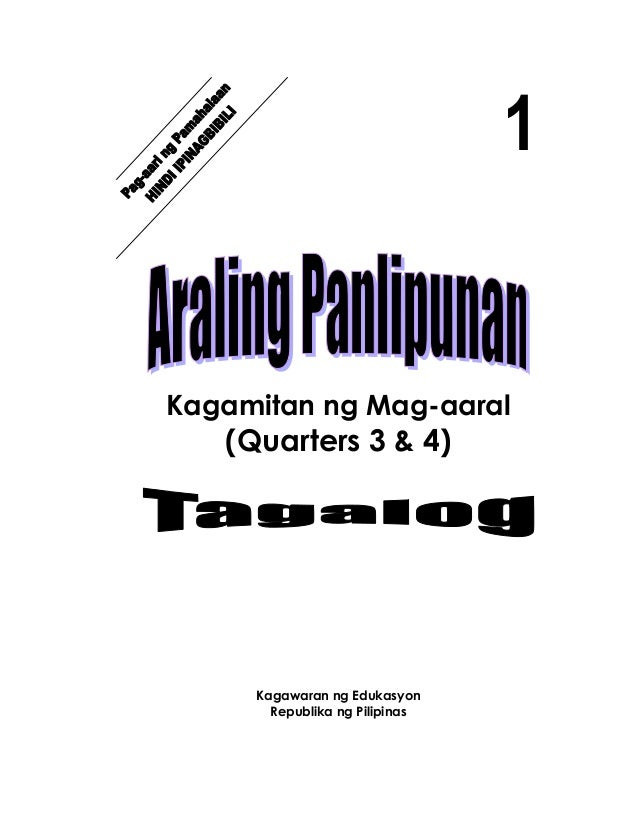 K TO 12 GRADE 1 LEARNING MATERIAL IN ARALING PANLIPUNAN