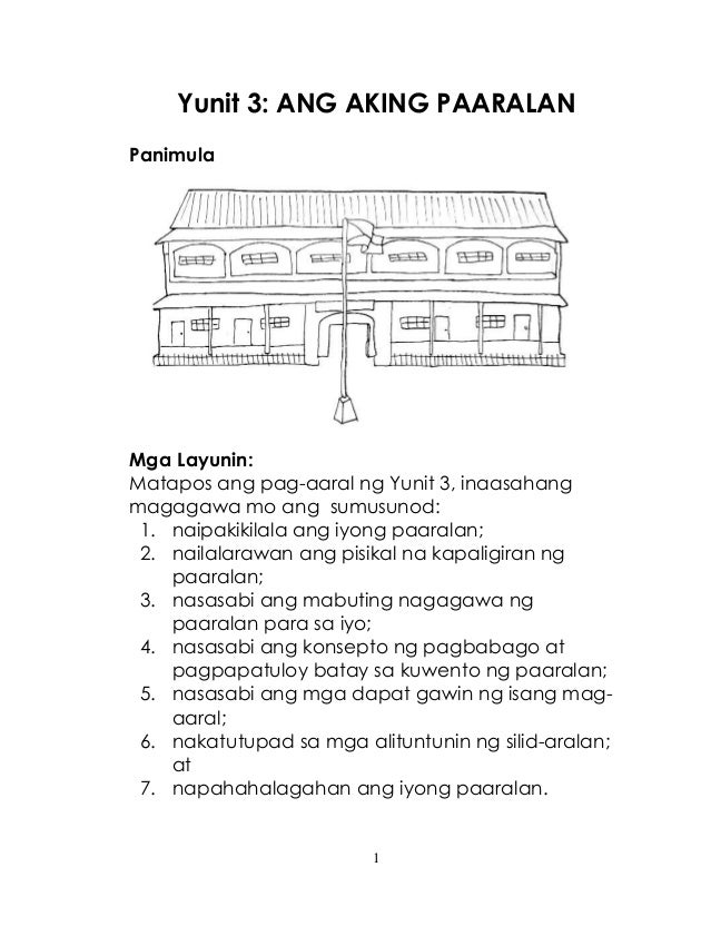 K TO 12 GRADE 1 LEARNING MATERIAL IN ARALING PANLIPUNAN ...