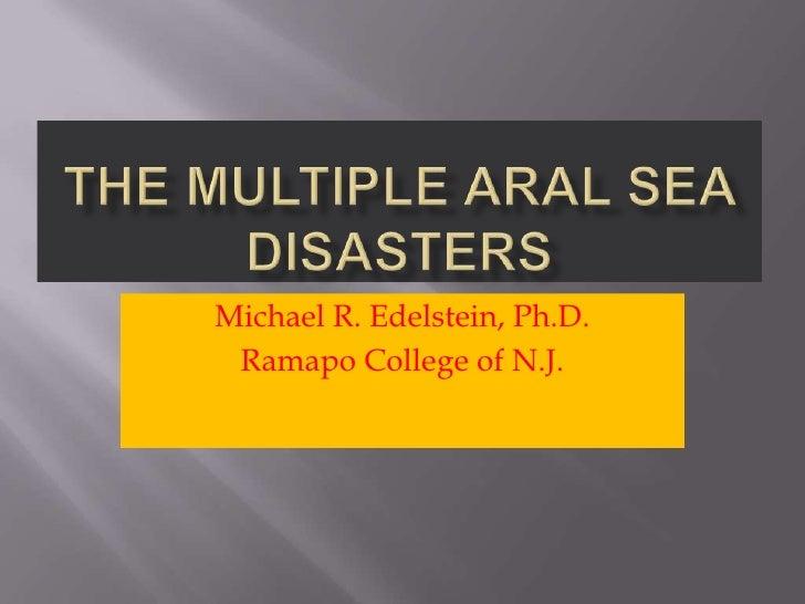 Michael R. Edelstein, Ph.D. Ramapo College of N.J.