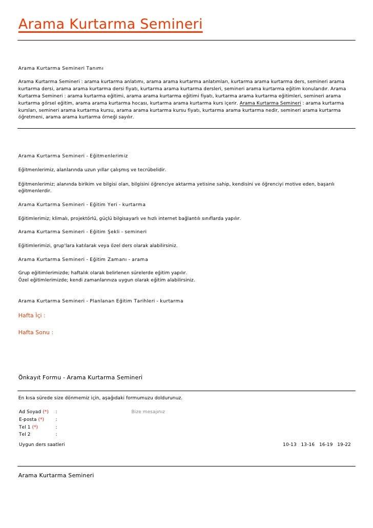 Arama Kurtarma SemineriArama Kurtarma Semineri TanımıArama Kurtarma Semineri : arama kurtarma anlatımı, arama arama kurtar...