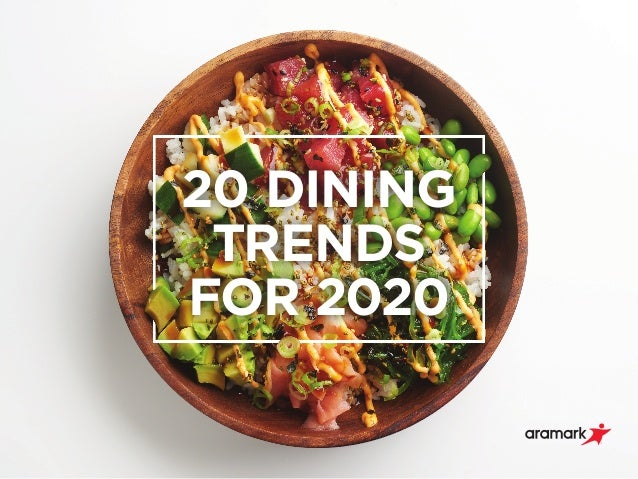 20 DINING TRENDS FOR 2020