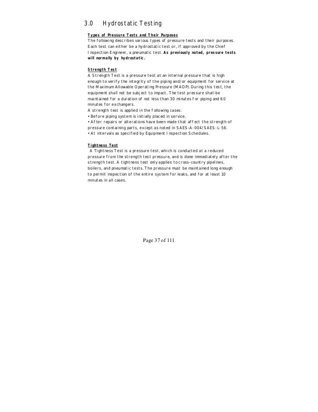 Aramco inspection handbook 40 page 38 of 111 leak test fandeluxe Image collections