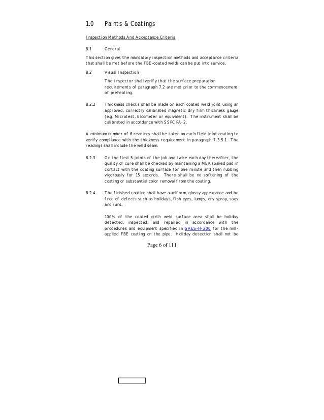Aramco inspection handbook destructive examination 6 paints coatings 7 fandeluxe Image collections