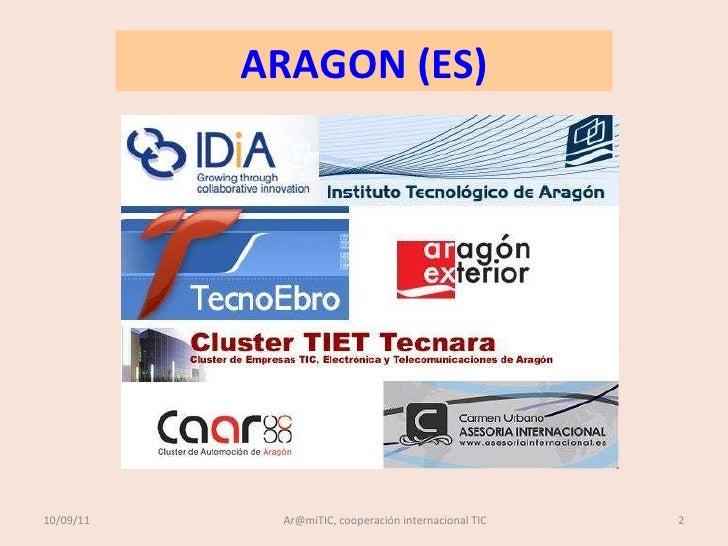 COOPERACION ARAMITIC ARAGON MIDI-PYRÉNÉES, PRESENTACION OCTUBRE 2011 Slide 2