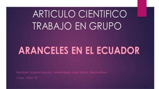Suben Aranceles en el Ecuador