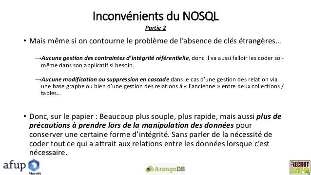 Sgbdr Vs Nosql Differences Et Uses Cases Focus Sur Arangodb