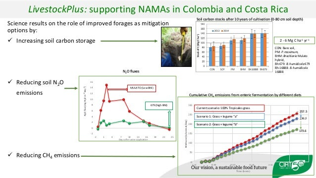 LivestockPlus: supporting NAMAs in Colombia and Costa Rica Science results on the role of improved forages as mitigation o...
