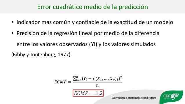 • Indicador mas común y confiable de la exactitud de un modelo • Precision de la regresión lineal por medio de la diferenc...