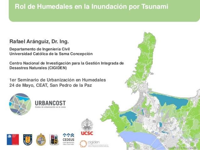 Rol de Humedales en la Inundación por Tsunami Rafael Aránguiz, Dr. Ing. Departamento de Ingeniería Civil Universidad Catól...