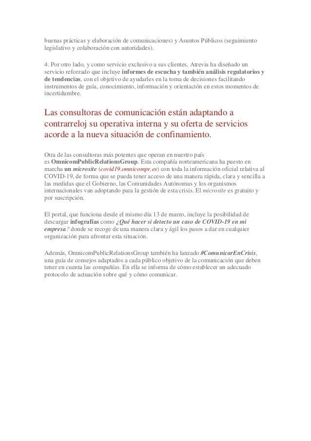 buenas prácticas y elaboración de comunicaciones) y Asuntos Públicos (seguimiento legislativo y colaboración con autoridad...