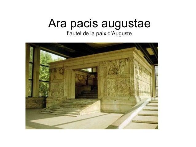 Ara pacis augustae   l'autel de la paix d'Auguste