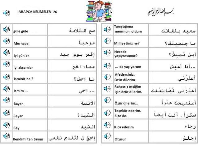 Arapca kelimeler 26 40 slayt pps