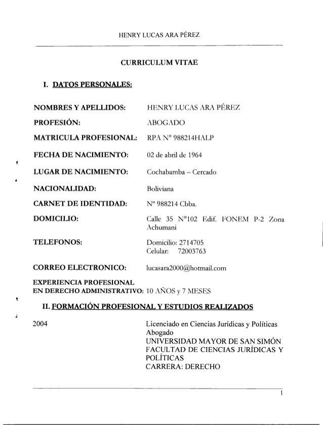 Curriculum Del Nuevo Contralor General Del Estado