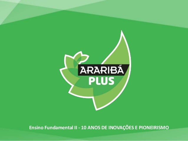 Ensino Fundamental II - 10 ANOS DE INOVAÇÕES E PIONEIRISMO