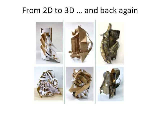 From 2D to 3D … and back again