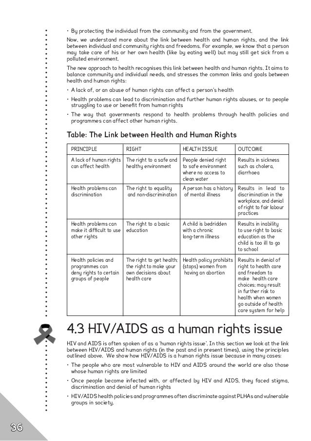 thesis on aids and human rights 135 the african union: concepts and implementation mechanisms relating to human rights bience gawanas introduction this paper focuses on the evolution of human rights.