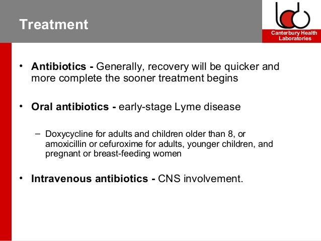 Lyme disease treatment doxycycline antimicrobial use