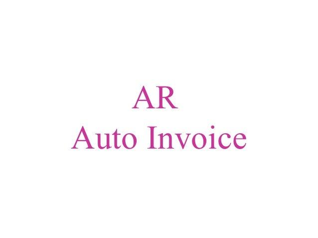 AR Auto Invoice